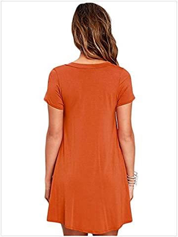 MEINICE Damen Kleid Gr. Small, Orange