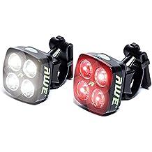 AWE® AWEBlitz™ 8 LED's USB Recargable delantera de la bicicleta y trasero Juego de luces de 120 lúmenes