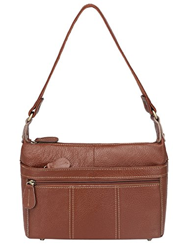 Borsa a Tracolla Donna Messenger Vintage Borse Pelle Spalla Tote Piccolo Cross Body Portadocumenti Marrone Brown