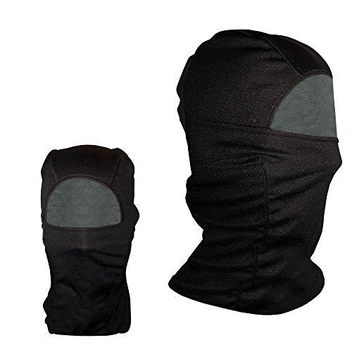 Preisvergleich Produktbild Sturmhaube Skimaske - 2 Packungen - Motorrad - Winddicht - Herren Damen Kinder - kaltes Wetter - Volles Gesicht - Pro-Black - Winter-Warm Halstasche