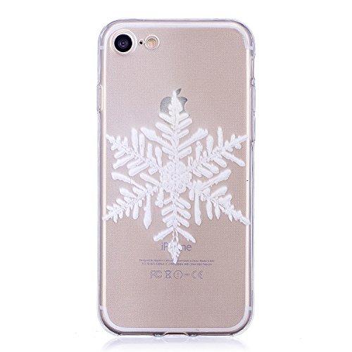 iPhone Blanco Copo de nieve TPU móvil