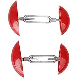 ZYCX123 Red Mini Einstellbarer Schuh-Baum Stretcher Schuh in guter Form zu halten (7-12cm)