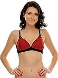 Clovia Padded Non-Wired T-Shirt Bra In Red