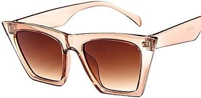 Skang Mode Damen Übergroße Sonnenbrille Vintage Cat Eye Super Coole Damenbrillen Sunglasses Pilot Brille Sportbrille Eyewear