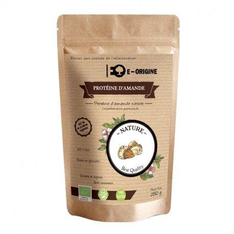 E-ORIGINE - Protéine d'amande bio en poudre - 250g