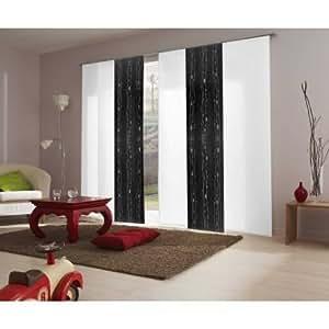 fl chenvorhang voile schwarz ausbrenner wellen 45 cm breit auf 260 cm hoch. Black Bedroom Furniture Sets. Home Design Ideas