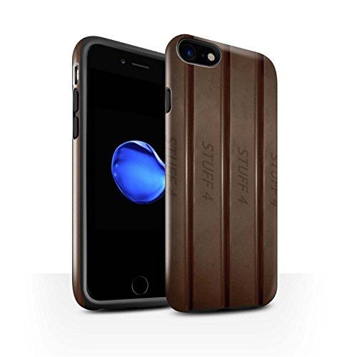 STUFF4 Glanz Harten Stoßfest Hülle / Case für Apple iPhone 7 / Galaxie-Welle Muster / Schokolade Kollektion Finger/Stöcke