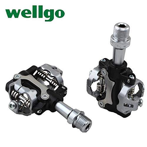 Wellgo W01MTB Clipless Pedali Compatibile Shimano SPD
