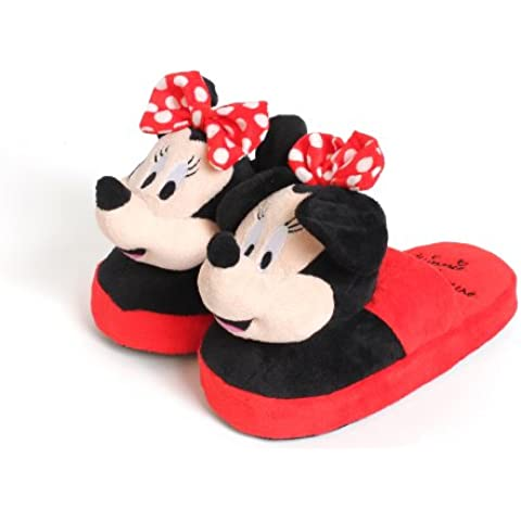 Disney Stompeez - Zapatillas de estar por casa - Diseño Minnie Mouse