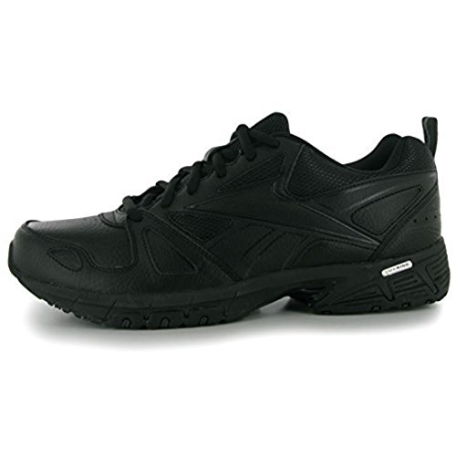 Reebok Mens Advanced Trainers Sport Training Shoes Fitness Laced Up Breathable Black/Gravel UK 8(42)