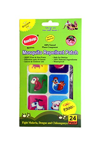 RunBugz Mosquito Repellent Patch (Animal-Pack of 24)
