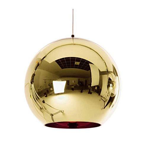 JIE Moderne Goldenen Ball Anhänger Lichter Kupfer Glas Spiegel Ball Hängen Lampe Küche Moderne Leuchten Hängen Licht,Gold,Diameter20cm