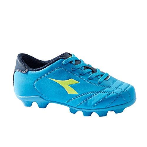 Diadora 6play Md Jr, Chaussures de Football Garçon Bleu (Blu Fluo/giallo Fluo)