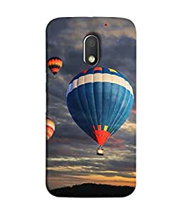 PrintVisa Designer Back Case Cover for Motorola Moto E3 :: Motorola Moto E (3rd Gen) (The Hot Air Balloons Lovely Design)