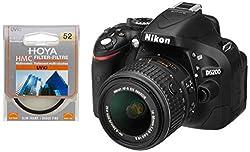 Nikon D5200 24.1MP Digital SLR Camera (Black) with AF-S 18-55 mm VR II Kit Lens, Memory Card, Camera Bag + Hoya 52mm Ultraviolet UV(C) Haze Multicoated Filter
