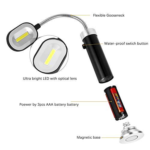 41Wg8Yjzv3L - Vegena LED Grill Licht [2 Stück], Magnetische Grill BBQ Licht Set Flexibel Grill Lampen Outdoor Grill Lichter Grillen Zubehör Schwarz