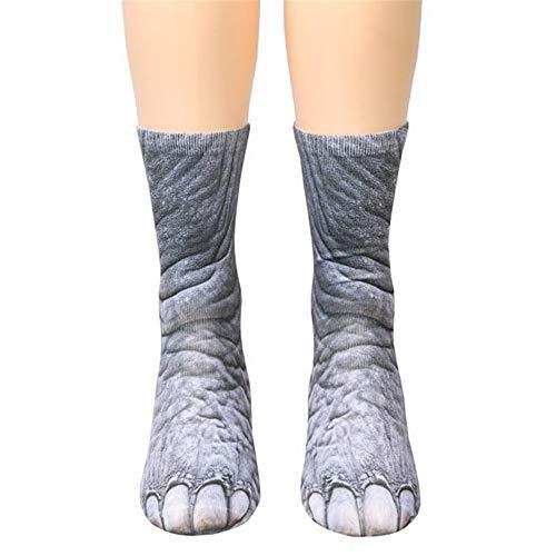 dressfan Niedliche Tier Socken Unisex Erwachsene Kinder 3D-Druck Tier Socke Paw Socken für Coslpay Kostüm