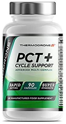 PCT Plus Cycle Support - 90 Veggie Caps - UK Manufactured Lab Tested - Super Strength Cycle Therapy & Support Capsules - Professional Grade PCT with 11x Powerful Active Ingredients - Restore Natural Testosterone Levels & Liver Function - Massive 6 Week Su