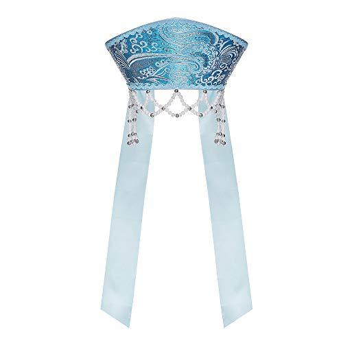 Russische Traditionelle Kostüm - danila-souvenirs Russisch Traditionelles Volkskostüm - Kopfschmuck Kokoshnik Yana hellblau