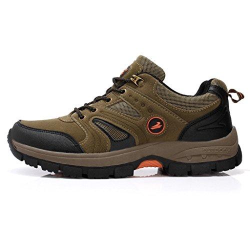 Zapatos Antideslizantes Para Caminar De Invierno Hombres Zapatos Respirables Al Aire Libre A Prueba De Agua 38-44 Marrón