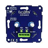 DUO LED Dimmer Einbau - 2x 0-100W - Phasenabschnitt - Universal 230V - Drehdimmer für LED Lampen, 100% leise