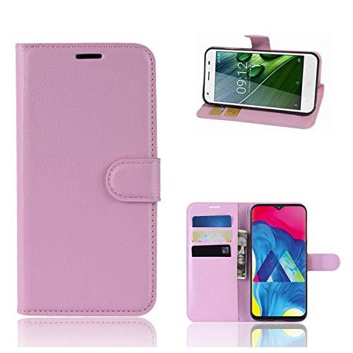 Ronsem Xiaomi Mi8 Youth / Mi8 Lite Hülle PU Leder Wallet Schutzhülle mit Kartenschlitz Flip Handyhülle für Xiaomi Mi8 Youth / Mi8 Lite - Pink