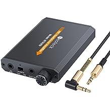 Neoteck Amplicador de Auriculares Portátil 3.5mm Audio Recargable HiFi con Batería de Litio y Cáscara de Alumnio Ideal para MP3 MP4 Phones iPods Ordenadors Laptops