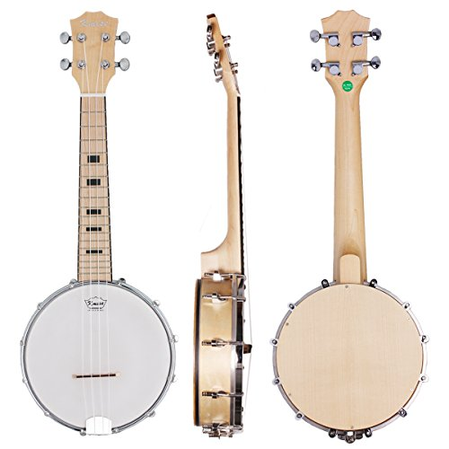 Kmise Banjo Ukulele 4 String Concert Banjos Maple Wood Aquila String Fashion Style Professional Musical Instrument