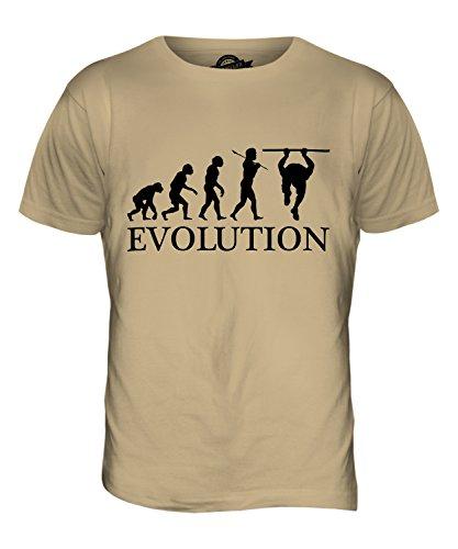 CandyMix Calisthenics Evolution Des Menschen Herren T Shirt Sand
