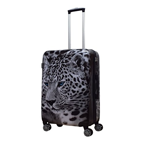 Fabrizio - Leopard - medium Reisekoffer - Spinner 68 - TSA Schloss (Medium Leopard)