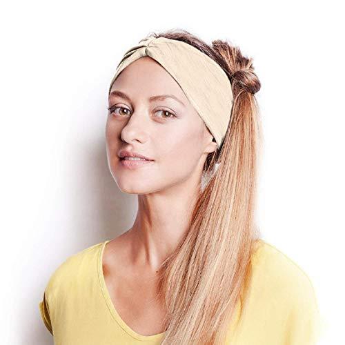 Koojawind Kopfbedeckungen, Mode Vintage Headwrap Tube Wash Gesichtsmaske Multifunktionale Kopfbedeckungen, Frauen Baumwolle Geknotete Turban Head Warp Haarband Breites Elastisches Stirnband Sport Yoga