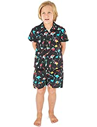 Resaca de Hawai Camisa Boy Aloha Luau Cabana Set en Vendimia Tropical Toile