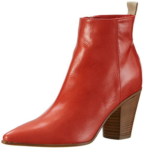 Noe Antwerp Damen Neena Cowboy Stiefel, Rot (Papavero), 38 EU (Rot Leder Cowboy-stiefel)