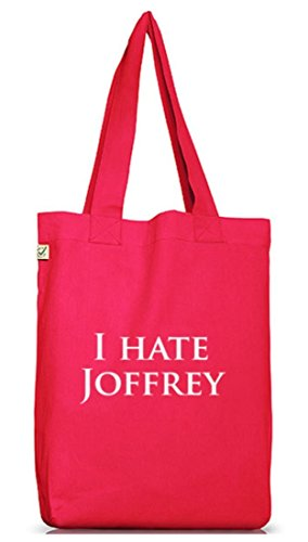 Shirtstreet24, I HATE JOFFREY, Jutebeutel Stoff Tasche Earth Positive (ONE SIZE) Hot Pink