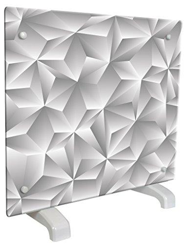 Chemin'Arte 114 Radiateur décoratif design Prisme 1000 W Gris