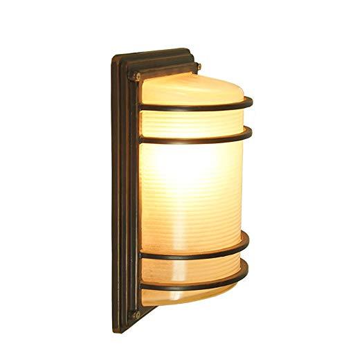 Moderne Außenwandleuchte Beleuchtung, Außenwandleuchte schwarz lackiert, Milchglasschirm - Hof, Flur, Schlafzimmer, Badezimmer Wasserdichte Wandleuchte - Lackiert, Glasschirm