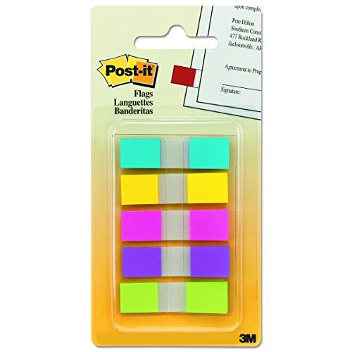 Post-it 6835CBEU Haftstreifen Index Mini (11,9 x 43,2 mm) 5 x 20 Streifen im Etui türkis, gelb, pink, lila, limonengrün