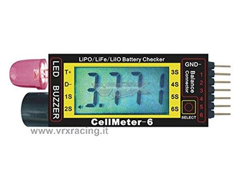 cellmeter-6 Détecteur de tension à haute précision avec écran et avvisatore sonore contrôlé par un Microprocesseur 1PZ VRX