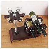 JulPlay Weinregal, freistehend, KZ35214-W951, Kreatives Tisch-Weinregal, verdicktes 304 Edelstahl, minimalistisches Weinregal, Flaschen-Server-Display, tragbarer Weinständer