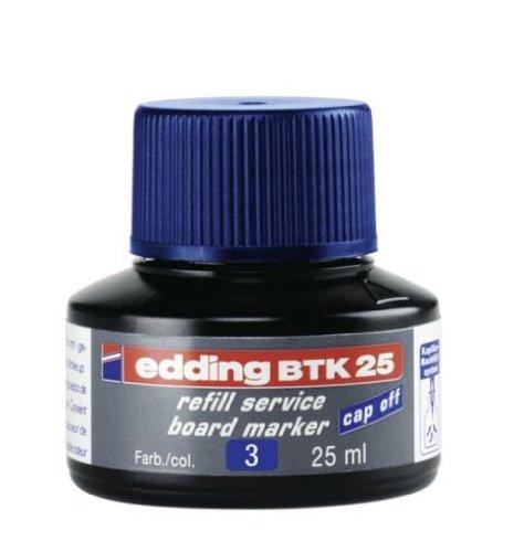 edding 4-BTK25003  Whiteboardmarker Nachfülltinte - Inhalt: 25ml - Farbe: blau - Tusche für Whiteboard-Stifte - Flasche mit Kapillarsystem