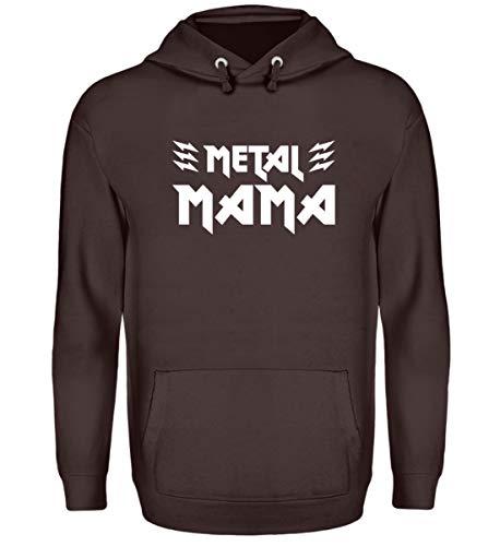 Metal Mama T-Shirt/Geschenk für Muttertag, Geburtstag, Weihnachten/Heavy Metal Fans - Unisex Kapuzenpullover Hoodie -XL-Schokolade -