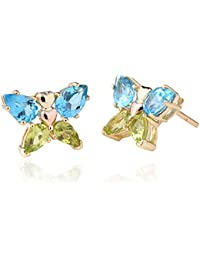Clogau Women 9ct (375) 2 Colour Gold Topaz Stud Earrings  BWGSE