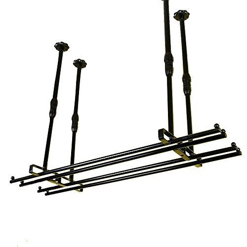 HT BEI Schmiedeeisen Schwarz Suspension 1 Reihe 2 Zeilen Frei Einstellbar für Den Markt Standard Becher 2 Abschnitte 2 Größen Optional | (Größe : 80*25cm) (Standard-arbeitsplatte Breite)