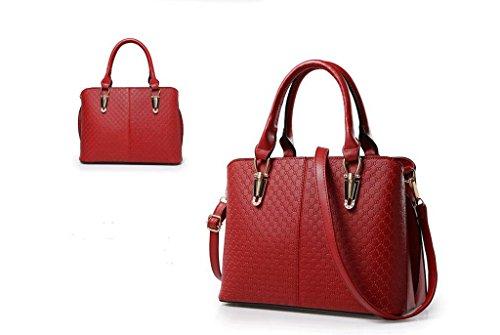 La nuova tendenza della femmina moda borse a mano, big bags, spalla di svago, Messenger bag Red wine