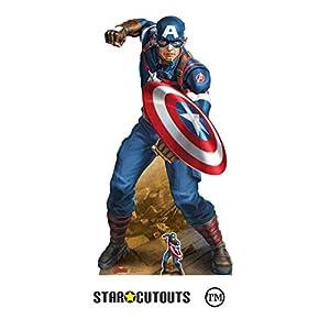 StarCutouts Ltd SC1531 - Escudo de cartón para fanáticos y Eventos de Marvel, 183 cm, diseño de los Vengadores de Las Leyendas de los Vengadores, Multicolor