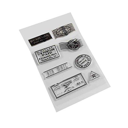 F-Blue PVC Silikon Transparent Stempel für DIY Scrapbooking-Karte Stamp Supplies