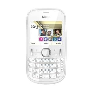 "Nokia Asha 200 Telefono Cellulare, Dual SIM, Display da 2.4"", Bianco [Italia]"