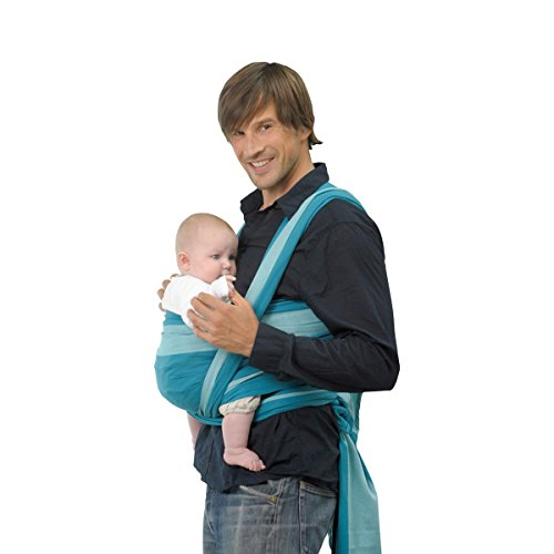 AMAZONAS Foulard porte-bébé « Carry Sling » porte-bébé, turquoise df2c36cb957