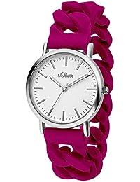 s.Oliver Damen-Armbanduhr Analog Quarz Silikon SO-3260-PQ