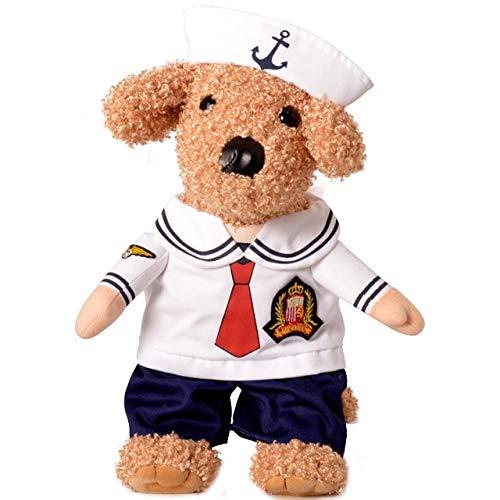 MSSJ Lustiger Hund Katze Kostüme Boxer, Arzt, Krankenschwester Cosplay Anzug Haustierkleidung Halloween Uniform Kleidung für Welpen Hunde Kostüm für eine Katze S Sailor (Sailor Doll Kostüm)